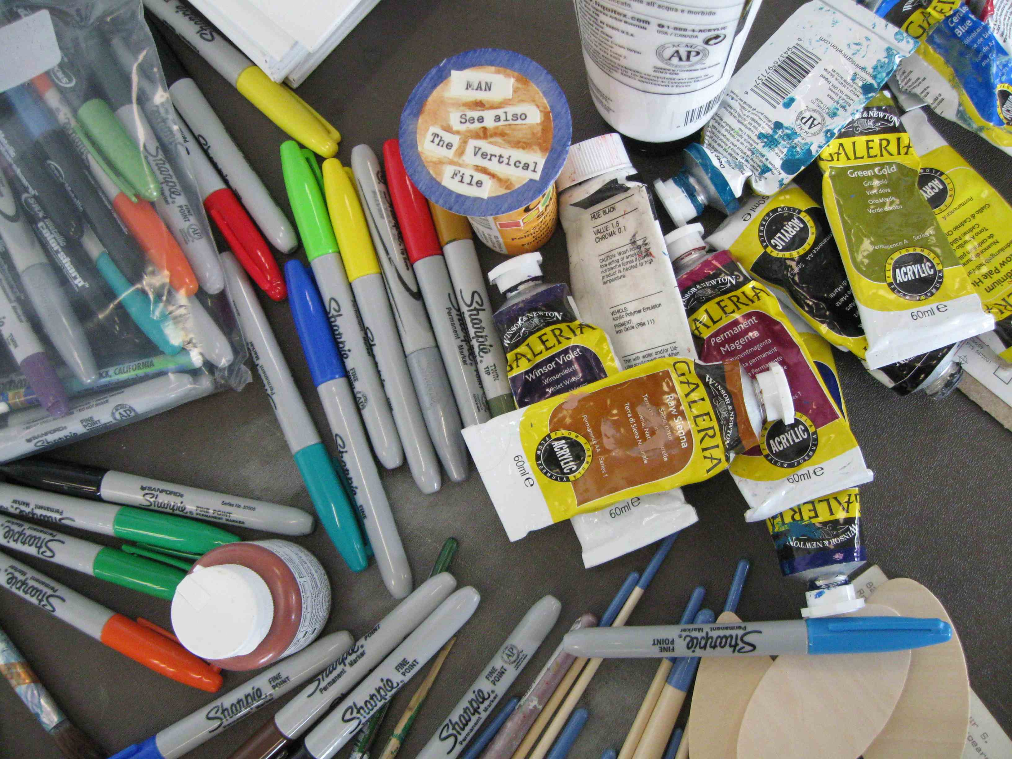 art supplies at THATCamp Craft Cabin